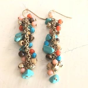 Saks Fifth Avenue Jewelry - DANGLE CASCADING TURQUOISE JEWELED STONE EARRINGS